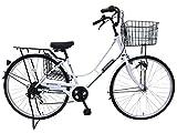 サラゴサ 27インチ ホワイト 6段変速 LEDオートライト 自転車
