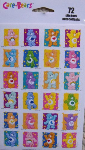 Care Bears- 72 Stickers - 1