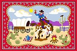 LA Rug Olive Kids Ride \'Em 19-by-29-Inch Nylon Rug