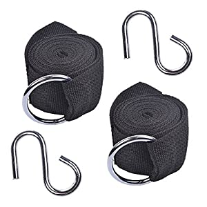 Cosmos® 1Pair of Nylon Hammock Tree Straps with Carabiner Hooks from Cosmos