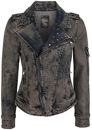 Rock Rebel by EMP Stone Washed Jeans Jacket Giacca di jeans donna grigio XS