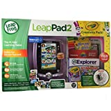 Leap Frog Leap Pad 2 Crayola Creativity Pack Bundle Pink! Includes Leap Frog Leap Pad2 Learning Tablet With 4...