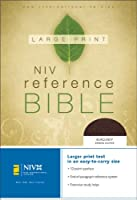 NIV Reference Bible, Personal Size (Burgundy Bonded Leather)