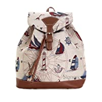 Signare Fashion Canvas/High Quality Small Tapestry Rucksack/Woman Rucksack/Backpack/Yacht Design