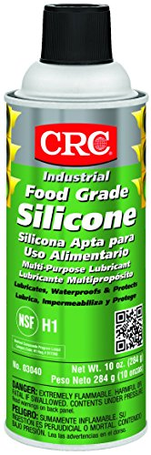 CRC Food Grade Silicone Lubricant, (Net Weight: 10 oz) 16oz Aerosol (Food Safe Lubricating Grease compare prices)
