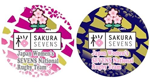 ラグビー日本代表 サクラセブンズ オフィシャルグッズ 缶バッジ2個セット