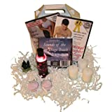 The For Him Massage Gift Basket: Sensual Man's Massage DVD / Sports Massage for Men , Oil, Relaxation Music, Candles, Incense (2 DVD/1 Oil/1 CD) ~ Ricahrd Isshi