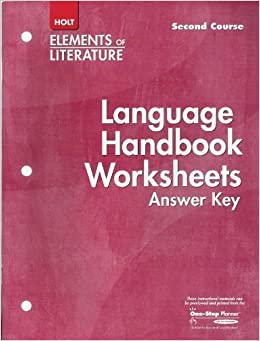 language handbook worksheets answer key elements of literature second course grade 8. Black Bedroom Furniture Sets. Home Design Ideas