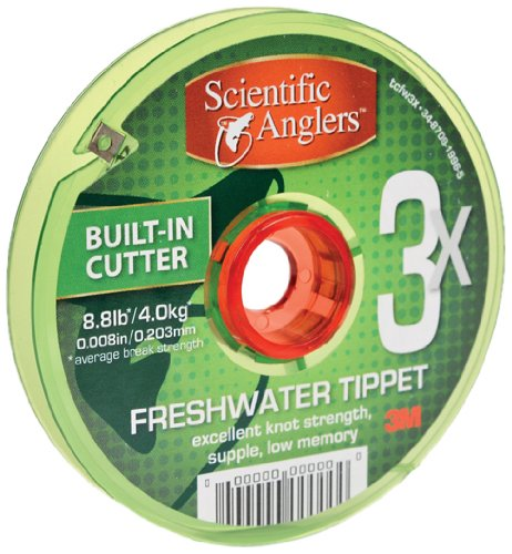 3M  Scientific Anglers 186699 Freshwater Tippet with 30 Meter Spool, 0x, Clear