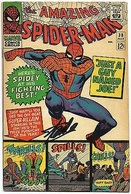 Stan Lee Hand Signed Spiderman #38 Comic Book Graded Gem Mint 10! V078