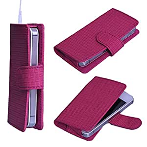 DSR Pu Leather case cover for Celkon A402