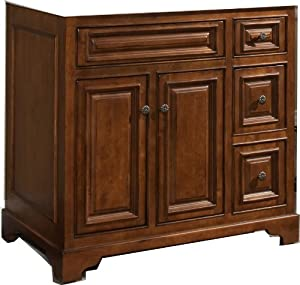sunnywood cb3621d cambrian 2 doors 4 drawers vanity base