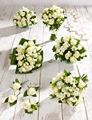 White Rose and Freesia Wedding Collection 3