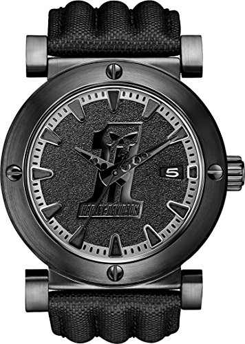 Harley Davidson Men's Quartz Watch with Black Dial Analogue Display and Black Leather Strap 78B131