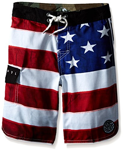 Rip Curl Big Boys Old Glory Boardshort, Red, 22