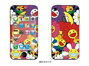 Pacers iPhone 4/4s Dual Colored Skin Sticker -- Smiling Flowers, MAC1013-114