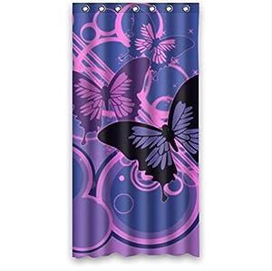 Best Seller Blue Purple Butterfly Pattern Design Custom 100 Polyester Waterproof