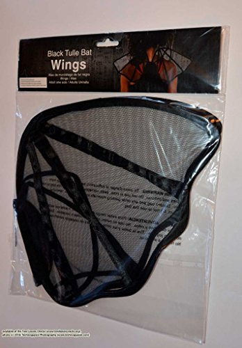 Black Tulle Bat Wings, Adult One Size