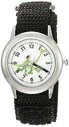 Disney Kids W002207 Spot and Arlo Analog Display Analog Quartz Black Watch