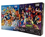 Disney Villains and Heroes Set of (2) 100 Piece Puzzles