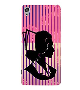 Creative Woman Design 3D Hard Polycarbonate Designer Back Case Cover for Sony Xperia XA :: Sony Xperia XA Dual