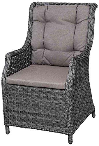 Siena Garden 283199 Delgada Sessel anthrazit Kissen taupe 100% Polyester günstig online kaufen