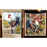 Collections Etc Farmyard Rooster Kitchen Decorative Magnets Dishwasher