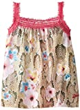 Diesel Baby Girls' Timib Floral Print Tank with Sparkle Mesh Detailing