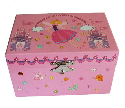 Childrens Cute Pink Fairy Musical Ballerina Jewellery Box