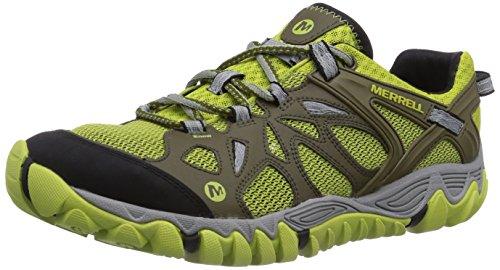 Merrell ALL OUT BLAZE AERO SPORT, Scarpe da trekking medio uomo, Multicolore (Mehrfarbig (BEECH/GREEN OAS)), 44