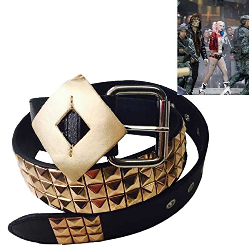 [New Batman DC Comic Suicide Squad Harley Quinn Costume Belt Cosplay Accessories] (Half Doll Half Zombie Costume)