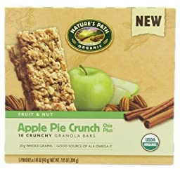 NATURE\'S PATH ORGANIC Crunchy Granola Bars, Apple Pie Crunch, 7.05-Ounce (Pack of 6)
