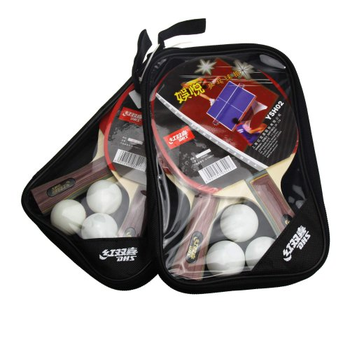 DHS Victory 4 Player (FL) Recreational Table Tennis Racket Set