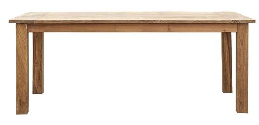 Table à manger en teck, H 78 x L 200 x P 90 cm - PEGANE -