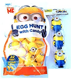 Despicable Me Minions Easter Egg Hunt with Candy & Figural Easter Eggs