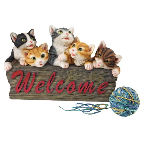 design-toscano-small-kitten-caboodle-cat-welcome-sign-statue