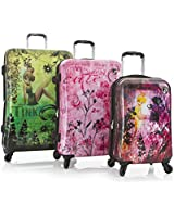 Heys Disney Fairies Fantasy 3 Piece Expandable Spinner Luggage Set