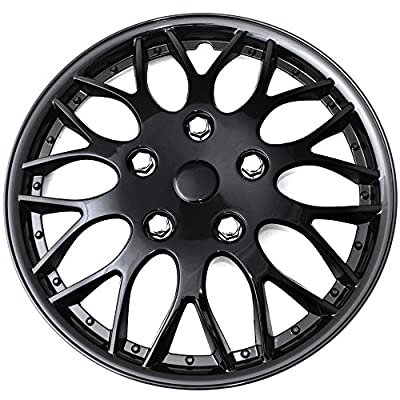 OxGord 16 inch Ice Black Plastic Wheel Cover