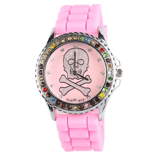 Yesurprise New Classic Trendy Crystal Rubber Jelly Silicone Lady Girls Casual Sport Wrist Watch for Graduation Party Gift Trendy #5