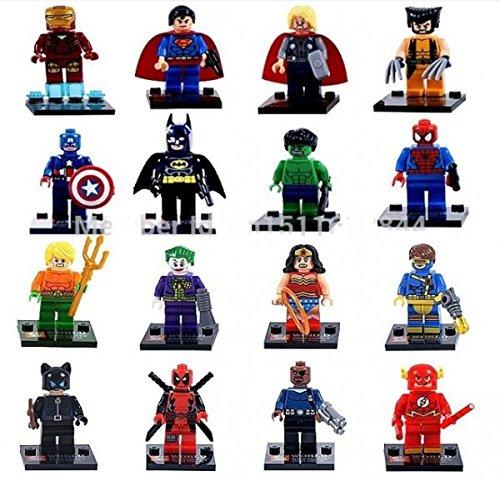 Marvel Super Heroes Figures Buliding Blocks Sets Minifigures Model Toys Bricks for Children 16 pcs/set # sh16018