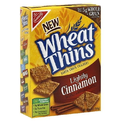 Buy Wheat Thins, Lightly Cinnamon,  9.5-Ounce Box (Pack of 6) (Wheat Thins, Health & Personal Care, Products, Food & Snacks, Snacks Cookies & Candy, Snack Food, Crackers)