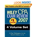 Wiley CPA Exam Review 2007 4-volume Set