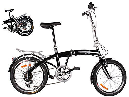 Learn More About TMS® 20 Black Folding Bike 6 Speed Bike Fold Bicycle Storage College School Sport...