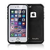 Easylife iPhone6 Plus ケース アイフォン6 plusケース 防水カバー 手帳型 衝撃吸収 防じん 防雪 (iphone6 plus, ホワイト)