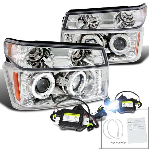 Colorado Canyon Chrome Halo Projector Headlights+Corner Lamps+H1 6000K Hid
