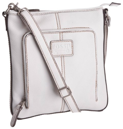 Fossil Women's Crosstown Zb2841 Flat Crossbody White