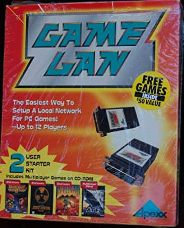 Game LAN PC up to 12 Players 2 User Kit Include; War Craft II, Duke Nukem, Doom, ATF