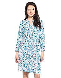 Flower Printed Shirt Dress Medium