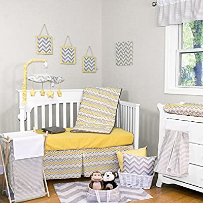 Buttercup Zig Zag 5 Piece Crib Bedding Set by Trend Lab