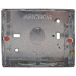 Anchor 21452 Metal GI Box Roma 3 Module, Silver